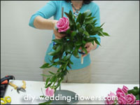 creating a cascade bouquet